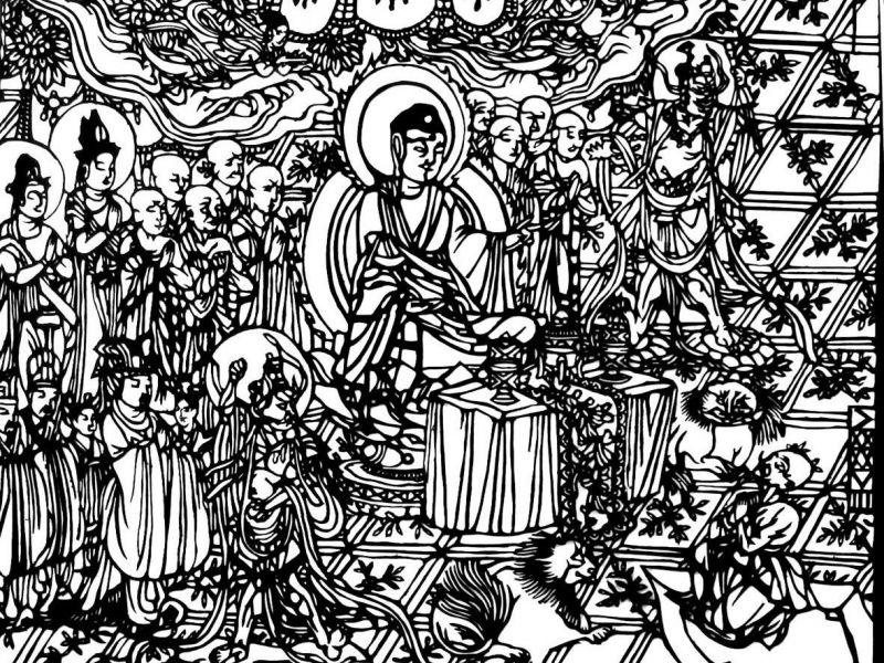 Buddha és kísérete